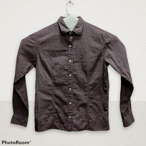 LL Bean Plaid Button Down Long Sleeve Shirt Size 8